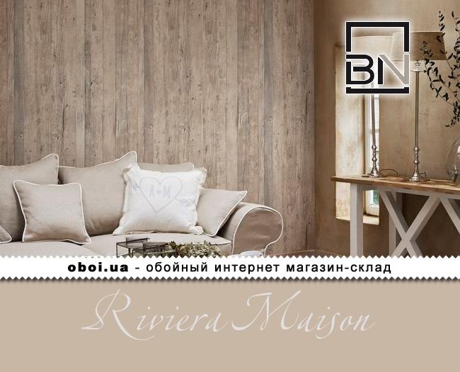 Вінілові шпалери на флізеліновій основі BN Riviera Maison