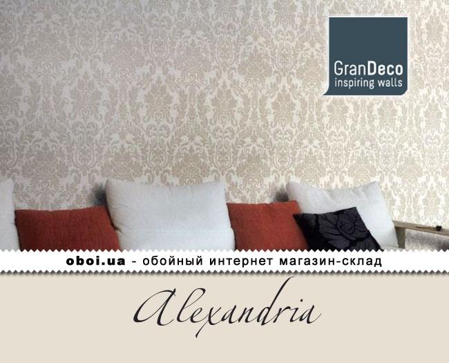 Виниловые обои на флизелиновой основе GranDeco Alexandria