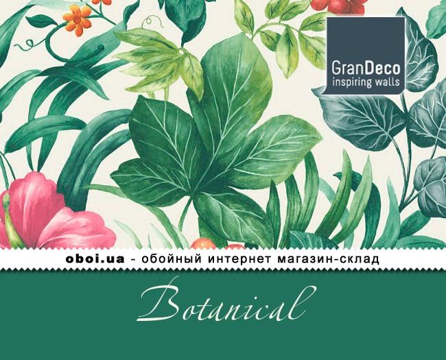 Виниловые обои на флизелиновой основе GranDeco Botanical