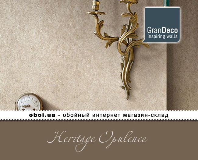 Виниловые обои на флизелиновой основе GranDeco Heritage Opulence