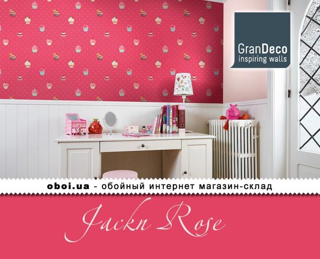 Обои GranDeco Jackn Rose