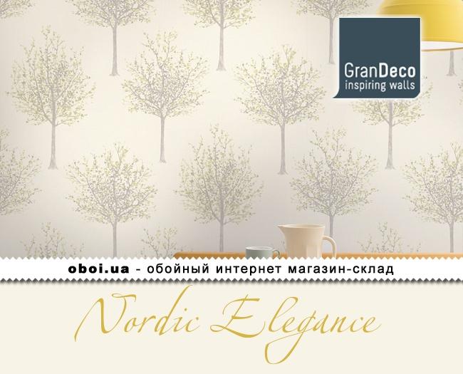Вінілові шпалери на флізеліновій основі GranDeco Nordic Elegance