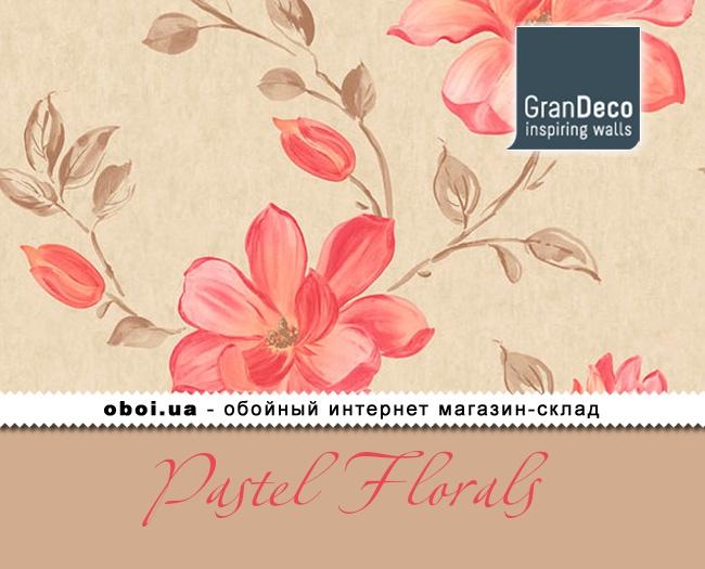 Обои GranDeco Pastel Florals