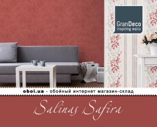 Вінілові шпалери на флізеліновій основі GranDeco Salinas Safira