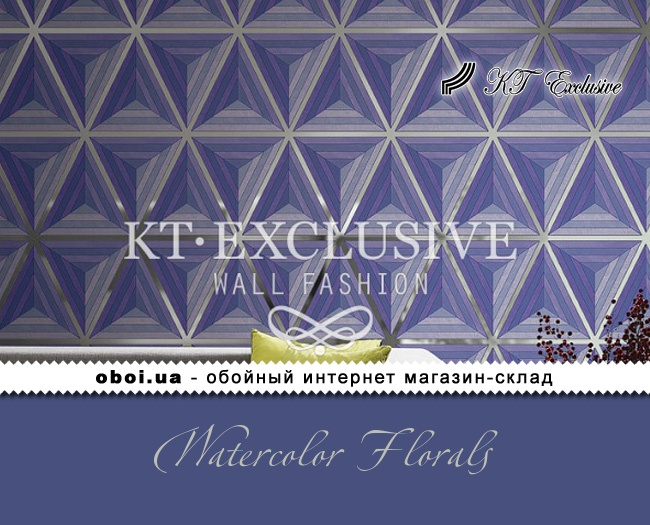 Паперові шпалери з акриловим напиленням KT Exclusive Watercolor Florals