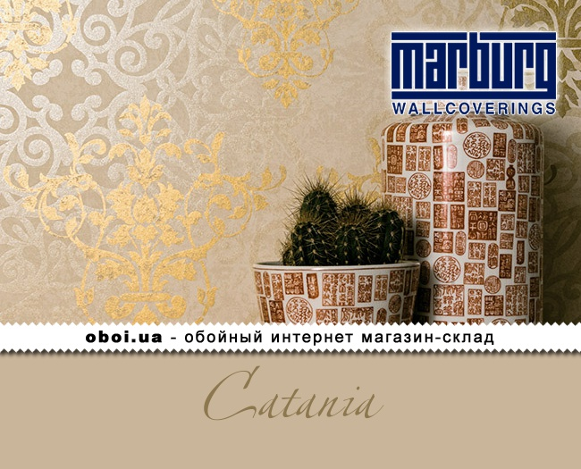 Вінілові шпалери на флізеліновій основі Marburg Catania