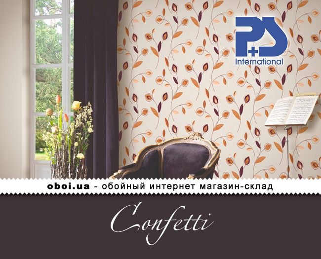 Флізелінові шпалери P+S international Confetti