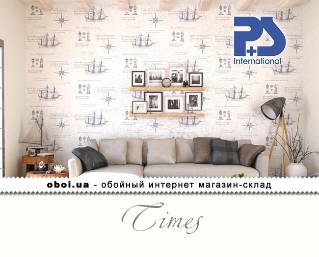 Вінілові шпалери на флізеліновій основі P+S international Times