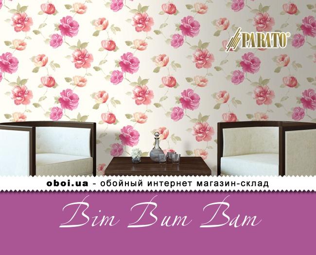 Виниловые обои на флизелиновой основе Parato Bim Bum Bam