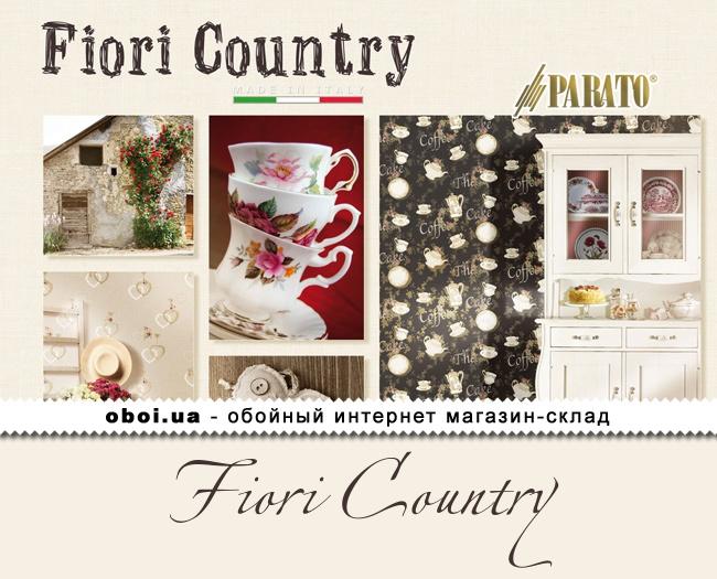 Виниловые обои на флизелиновой основе Parato Fiori Country
