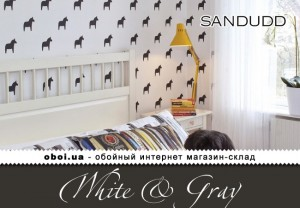 Обои Sandudd White & Gray