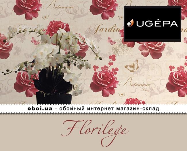 Вінілові шпалери на паперовій основі Ugepa Florilege