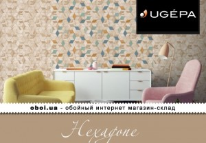 Шпалери Ugepa Hexagone