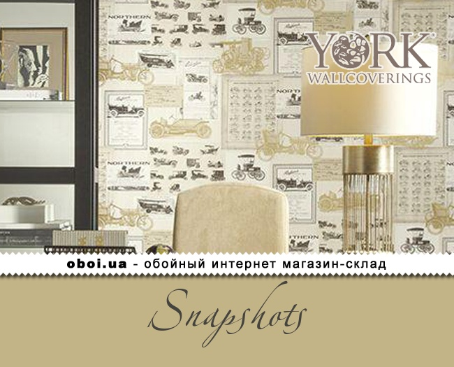 Паперові шпалери York Snapshots